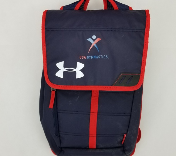 Under Armour USA Gymnastics Nylon Backpack. M 5b7d71202e1478be9f82c5e6 b2e39f63d2